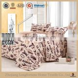 Manufactory wholesale 100%polyester home textile organic swaddle blanket children bed set