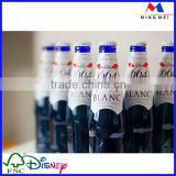 Professional beer bottle neck label printing,metallized paper for beer label,wine bottle label
