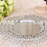 2016 new hotsale metal and crystal charger plate for event /wedding supply