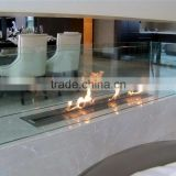 safest insert intelligent ethanol fireplace with real flame