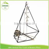 mother's day gift ! Wedding & Home Decor cactus succulent holder Geometric Prism brass metal garden line plant stand