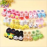 Cute cartoon baby sock shoes cotton antislip sole soft baby indoor socks baby shoes crochet baby girls shoes