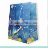Printed boutique jump form paper bag with handles wholesale
