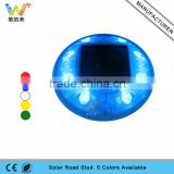 Blue led flashing solar road marker led driveway lights glass road stud