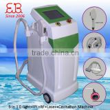 IPL RF Nd Yag Laser Hair Fat Burning Removal Machine+ultrasound Cavitation For Weight Loss 5 In 1 Cavitation Machine