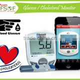 SIFGLUCO-3.1 Blood Glucose Practical Monitoring System, Blood Glucose / Cholesterol Bluetooth 4.0, Practical Monitoring System