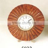 handicrafts of wooden table clock