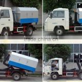 Truck mounted Hook Lift Garbage Box with Wheels / Garbage Truck