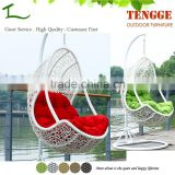 TG15-0146 Resin wicker hanging chair egg shaped swing chair
