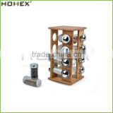 China Factory Bamboo Kitchen Spice Rack With Revolving Base/Homex_Factory