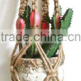 Hand Crafted Macrame Plant Hangers - Jute