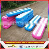 High Quality DWF Pink Or Blue Color Inflatable Air Mat / Inflatable Air Gymnastics Balance Beam For Sale