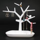 Plastic Bird Tree Jewelry Display Bracelet Ring Necklace Earring Stand Rack Jewellery Holder