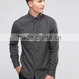 High Quality Custom New Design Long Sleeve Mens 100% Cotton Soft Flannel Slim Fit Casual Check Print Dress Shirts