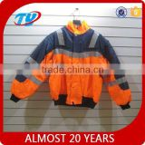 orange textile motorcycle riding jacket