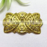 brass flower hair accessories hollow out metal flower garment accessories fashion flower jewelry finding