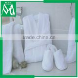 bathrobe with slippers cotton hotel bath robe with closed toe slippers