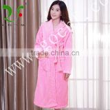 100% cotton soft velvet spa robe