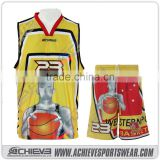 College sublimation cheap basketball uniform set designs