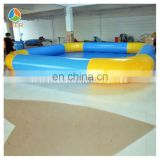 2014 Yellow Blue Combo Inflatable swimming pool design CE certificate