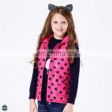 T-GJ002 Printed Girls Hooded Sleeveless Quilted Jacket