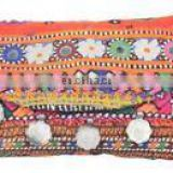"Banjara clutch 6""x10"" Vintage purse Messenger Cross body Bag coin Vintage Tribal Banjara Clutch Messenger Bags Purse assorted"