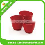 3 sets red silicone food bowls