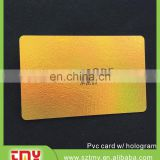 holography plastic membership card/magnetic stripe card with cheap price