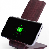 Hot Selling Wood Grain Color Ce Rohs Fcc Smart Phone Mobile Phone Qi Wireless Charger For Samsung Iphone