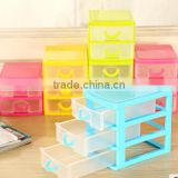 2016 Best selling small plastic drawer storage box household articles bins