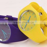 Anormaly glasses watch bright color and comfortable touch feeling
