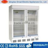 Glass Door Upright Freezer Used With CE,Inner glass/Wheels/Basket/Handle/Lock                                                                         Quality Choice