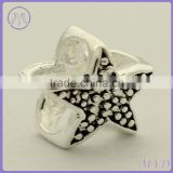 925 sterling silver starfish bead fit European sea life charms bracelet