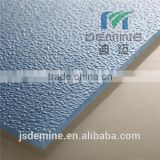 Rain drop embossed polycarbonate sheet for indoor partition walls