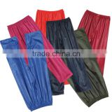 YANLI 100%waterproof, polyester pvc plastic pants for adults