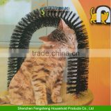 Pet Cat Arch Kitten Self-Groomer Massager Scratcher Catnip Toy