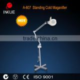 A-607 stand magnifying lamp magnifier with incandescent light bulb,skin examination magnifying filament lamp