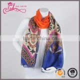 party wear silk scarf , fashion wholesale italian silk scarf, silk scarves for dyeing with digital printed for lady
