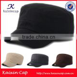 custom plain black short bill cheap military cap design your own logo cheap military uniform cap hat