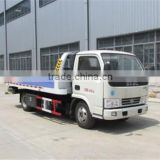 3-6tons mini small Road towing truck heavy flat bed wrecker with hydraulic crane for sale