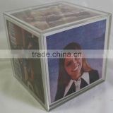 6 side acrylic photo frame box