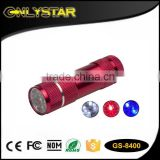 Onlystar GS-8400 aluminum tour guide sos emergency three color flashlight