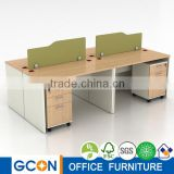 Office workstation with decorative partition wall modular wall panel system unique office cubicles                                                                         Quality Choice