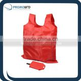 Bag grocery resuable red foldable polyester shopping bag