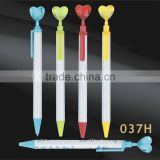 fancy Heart Shaped Mechanical Pencil with Dice with ball pen set