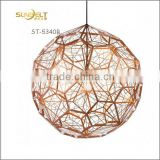 ST-5340B Sunbelt D300mm gold laser carving ball lamp,stainless steel lamp,,stainless steel lamp shade,gold ball pendant lamp.