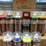 Professional Car Wheel Protective Type Removable MSDS Aerosol Spray Paint                                                                         Quality Choice