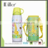 Wholesale Spray Painting Children Water Bottle thermos glass refill vacuum flask