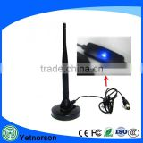 LED light TV antenna with amplifer high gain 30dbi dvb-t antenna with IEC /F male connector