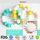 Silicone Bead Bracelet Teething / Popular Teether Silicone Bracelet Baby Teething Jewelry